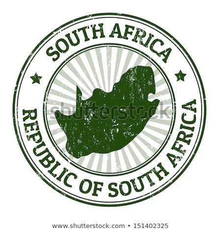 пост штампа ЮАР республика напечатанный изображение Сток-фото © Taigi