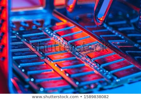 Emlék modul bot fotó fehér technológia Stock fotó © Marfot