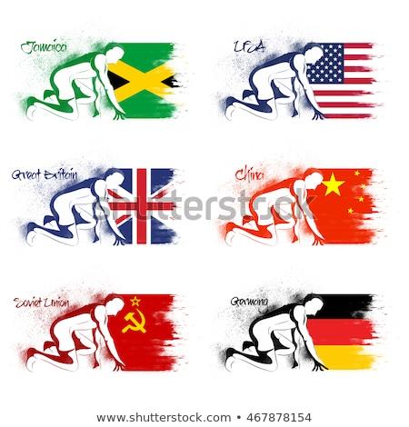 Sovjet- unie sport banners ingesteld papier Stockfoto © vavlt