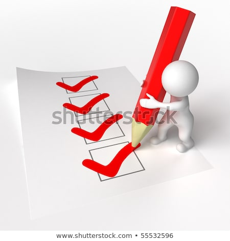 Stock photo: 3d small people - agreement