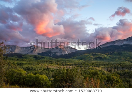 View over autumn forest from rocky mountain Stock photo © vetdoctor