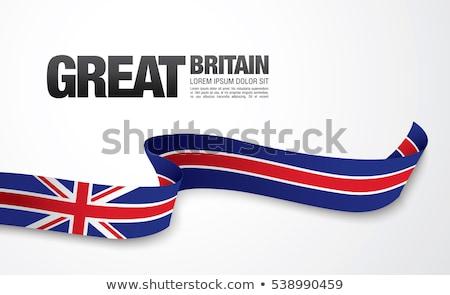 Szalag szalag angol zászló valósághű használt utazás Stock fotó © StockwerkDK