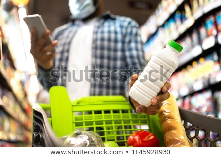 cart with dairy product Stock photo © M-studio