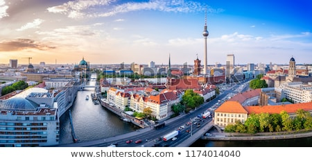 city skyline of berlin germany stock photo © inarts