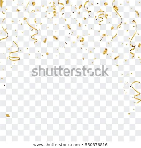 Festa decoração confete partes aniversário azul Foto stock © Tomjac1980