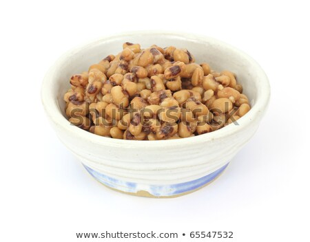 Black eye beans in a large dish Stock photo © raphotos