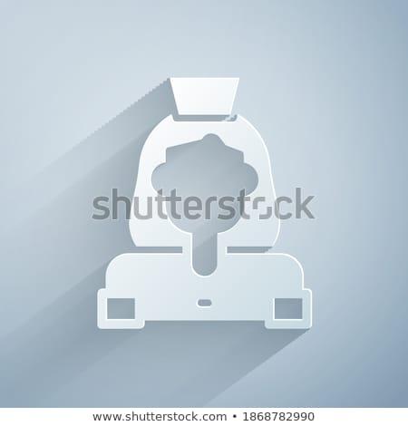 ev · kadını · Retro · ikon · uzun · gölge · kız - stok fotoğraf © ussr