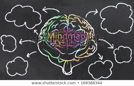 Mindmap with a Brain and Empty Clouds Stock photo © TLFurrer