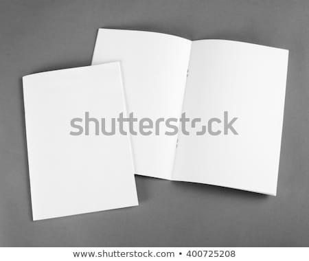 小冊子 実例 白 ビジネス オフィス 紙 ストックフォト © dvarg