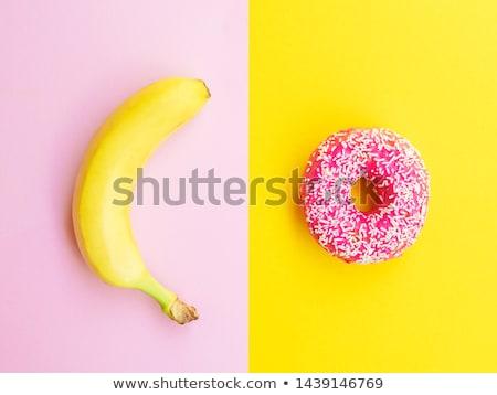 Insalubre saudável escolha dieta ruim alimentação Foto stock © Lightsource