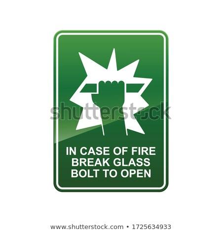 Tűz törik üveg tűzjelző riasztó fal Stock fotó © scenery1