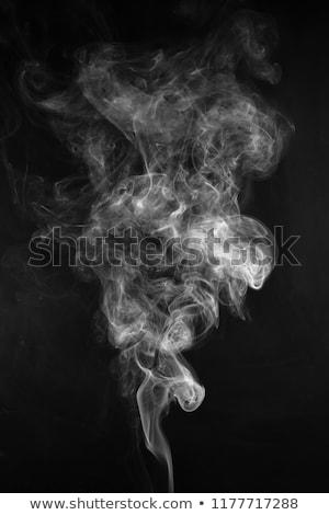 Incenso fumo buio sfondo arte Foto d'archivio © anan