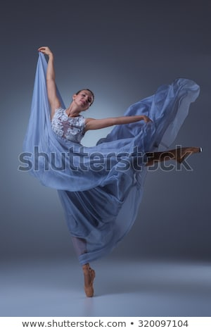 Ballerina in blue dress Stock photo © ChilliProductions