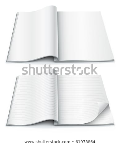 empty pages inside of magazine with wrapped corner Stock photo © LoopAll