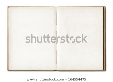 üres lap öreg notebook könyv háttér fekete Stock fotó © latent