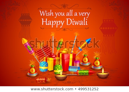 Traditioneel indian brand diwali vector illustraties Stockfoto © Akhilesh