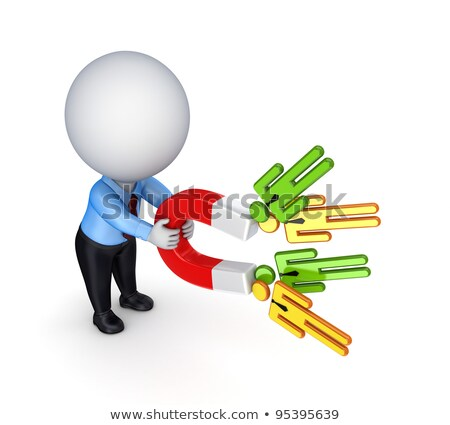 3d small people - success magnet Stock photo © AnatolyM