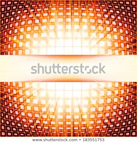 Technologii czerwony migotać wybuch eps Zdjęcia stock © beholdereye