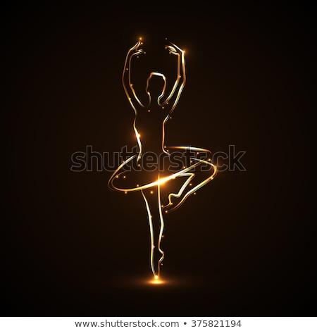 gouden · geïsoleerd · witte · dans · achtergrond - stockfoto © ruslanomega