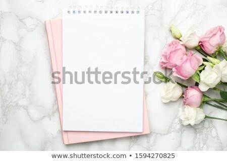 ストックフォト: 美しい · バラ · 花 · 自然 · 緑 · 赤