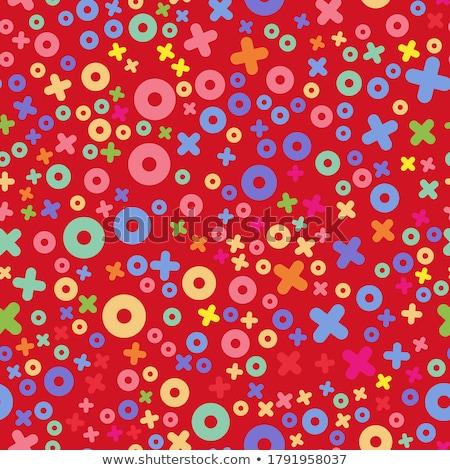 シームレス · 幾何学模様 · 抽象的な · ベクトル · スクラップブック - ストックフォト © orson