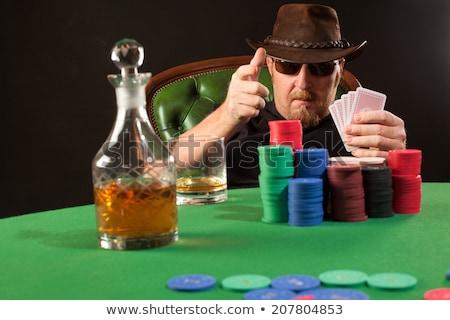 ernstig · poker · speler · foto · staren · tabel - stockfoto © sumners