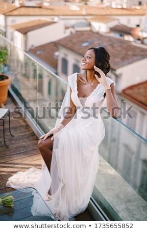schets · huwelijksceremonie · illustratie · witte · achtergrond · cake - stockfoto © orensila