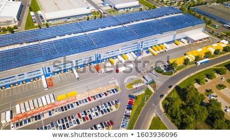 Armazém painéis solares moderno comercial telhado Foto stock © franky242