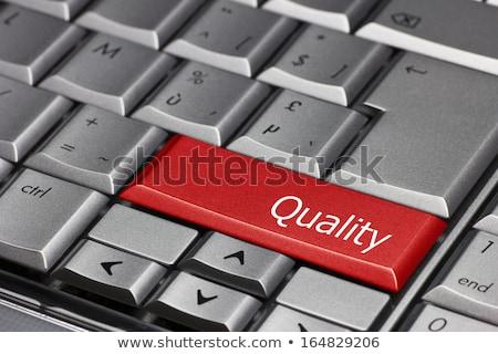Excelencia rojo teclado botón negro Foto stock © tashatuvango
