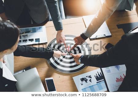Negócio objetivo escritório ícone empresário pin Foto stock © Lightsource
