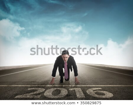 zakenman · klaar · koffer · geïsoleerd · witte · business - stockfoto © szefei