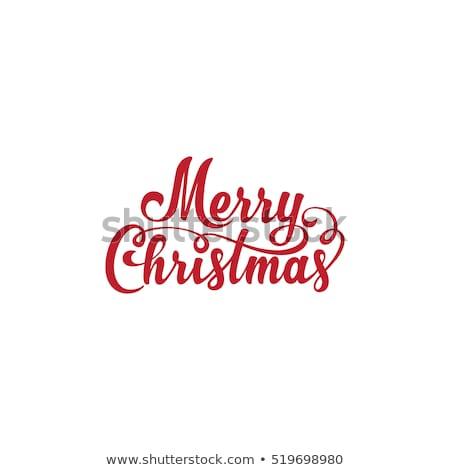 vetor · alegre · natal · ilustração · 3D · tipografia - foto stock © rioillustrator