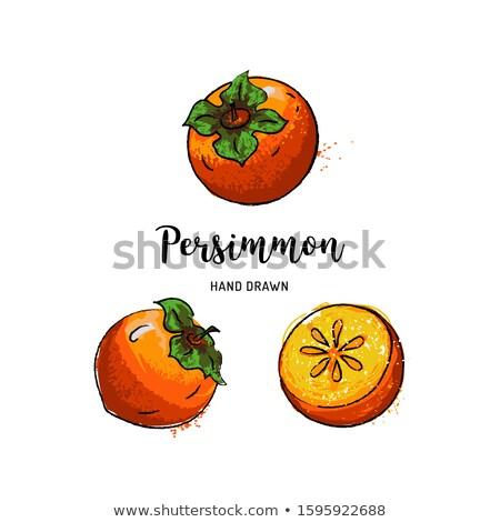 Persimmon in hand on white Stock photo © fresh_4870785