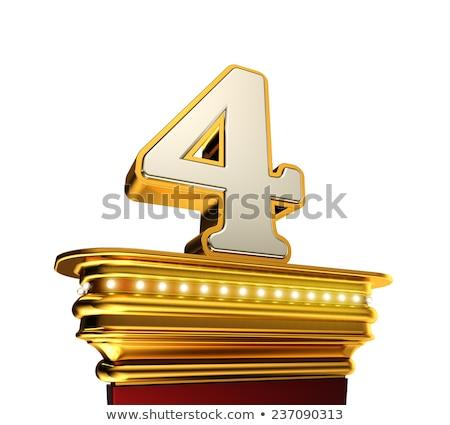 番号 4 プラットフォーム 白 輝かしい ストックフォト © creisinger