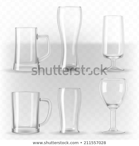 wina · piwa · szkła · kubek · wektora · zestaw - zdjęcia stock © loopall