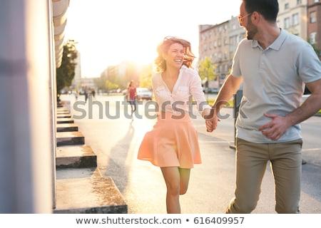 гетеросексуальные пары город пару любителей моста Сток-фото © Kor