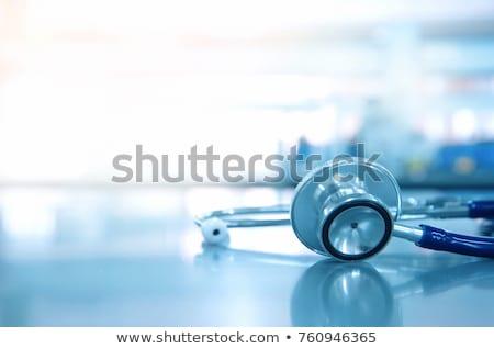 Stockfoto: Blauw · stethoscoop · groot · afbeelding
