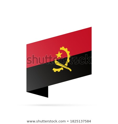 Illustration of  Map on flag button of Republic of Angola Stock photo © Istanbul2009