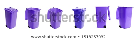red open garbage bin container Stock photo © compuinfoto