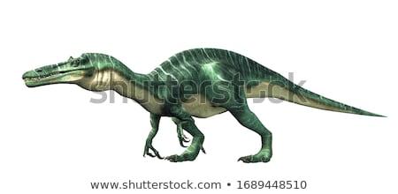 Dinossauro 3d render branco digital animal monstro Foto stock © mariephoto