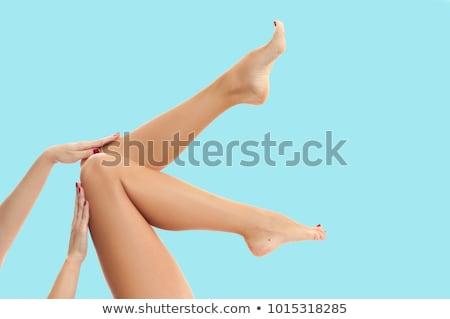 долго женщину ног изолированный белый девушки Сток-фото © ozaiachin