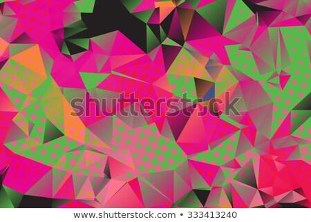 緑 · 抽象的な · モザイク · ウェブ · プレゼンテーション · 現実的な - ストックフォト © mcherevan