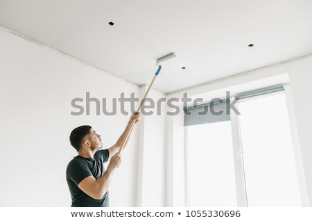 Stock photo: painting a ceiling