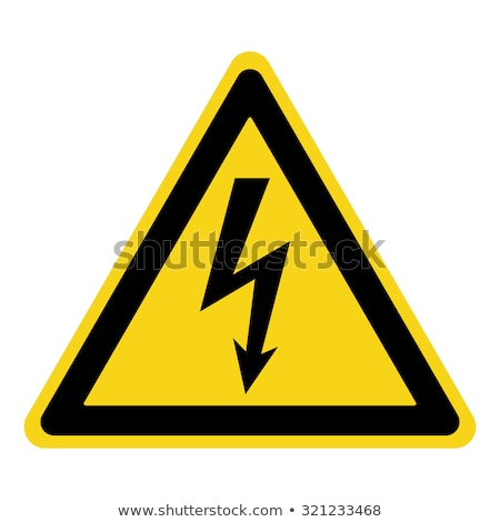 symbols of high voltage stock photo © tracer