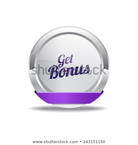Bonus mor vektör ikon düğme Internet Stok fotoğraf © rizwanali3d