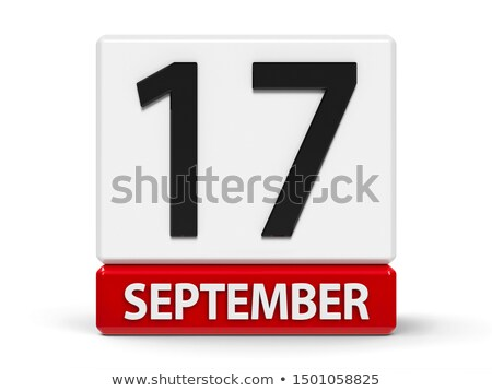 september in 3d cubes stock photo © marinini