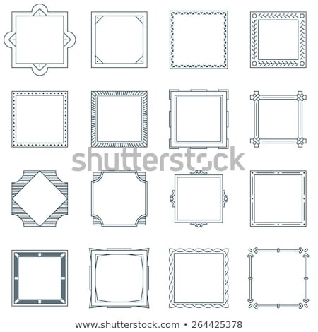 Stock foto: Einfache · Vektor · Platz · dekorativ · Rahmen · Design