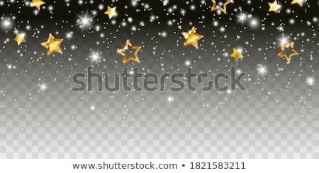 Karácsony keretek csillagok csillogó ünnep üdvözlőlap Stock fotó © Irisangel
