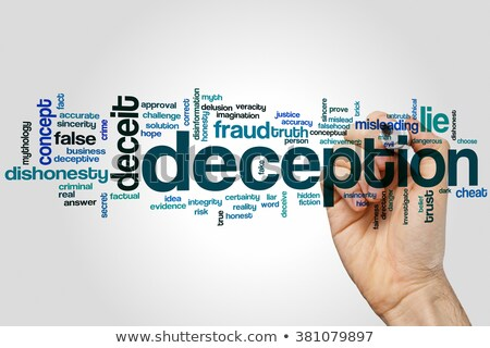 deception word cloud stock photo © tang90246