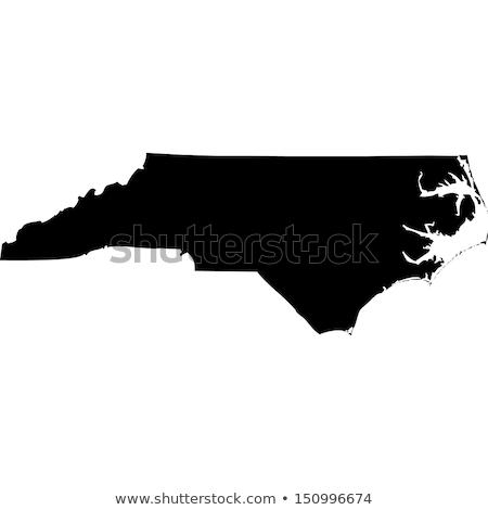 Caroline du Nord carte isolé blanche USA Amérique Photo stock © speedfighter